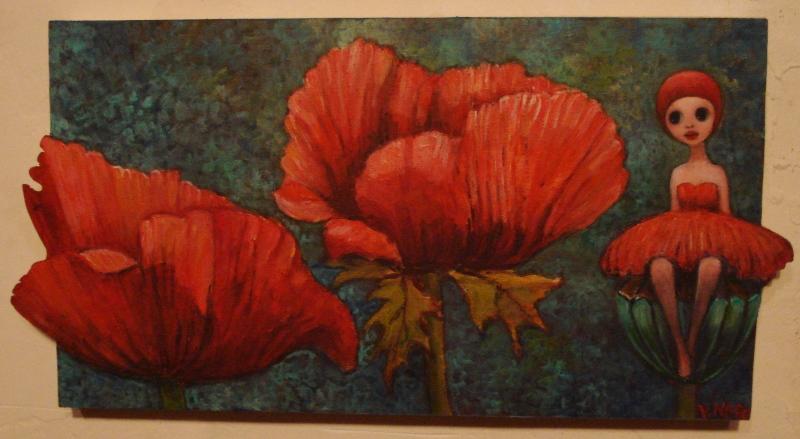Peinture coquelicots acrylique sur bois images - Peinture acrylique sur bois ...